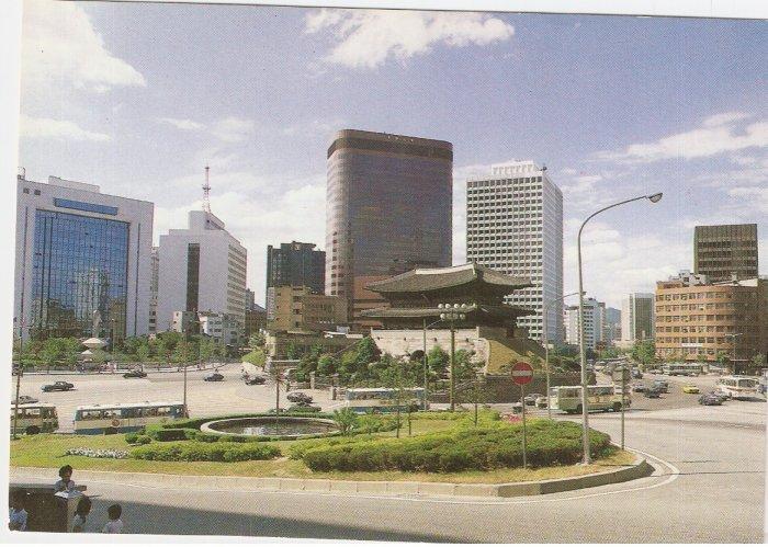 Namdaemun Gate National Treasure South Korea vintage postcard