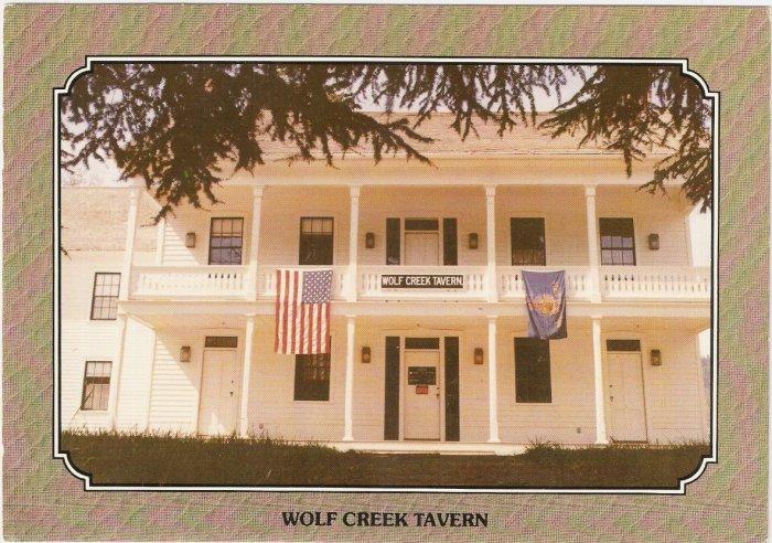 Wolf Creek Tavern Oregon Stagecoach Inn vintage postcard