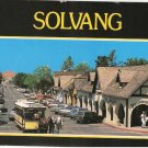 Solvang  Horse Drawn Trolley Danish town California vintage postcard
