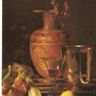 Willem Kalf Still Life Ewer Vessels Pomegrenate J Paul Getty Museum Malibu California 1980 postcard