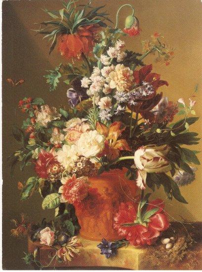 Jan Van Huysum Vase Flowers J Paul Getty Museum Malibu California 1983 postcard