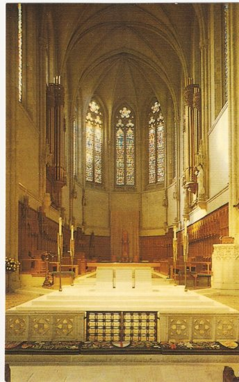 Grace Cathedral San Francisco CA Sanctuary High Altar vintage postcard