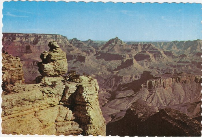 Duck on the Rock Grand Canyon national Park Arizona vintage postcard
