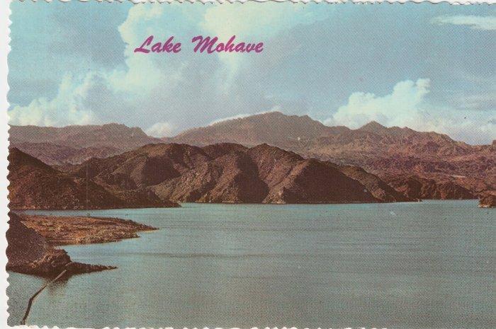 Lake Mohave Davis Dam Colorado River Arizona vintage postcard