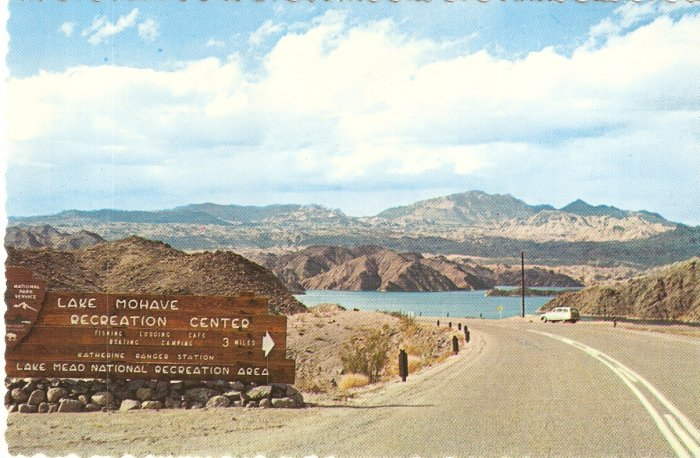 Lake Mohave Recreation Center Colorado River Arizona vintage postcard