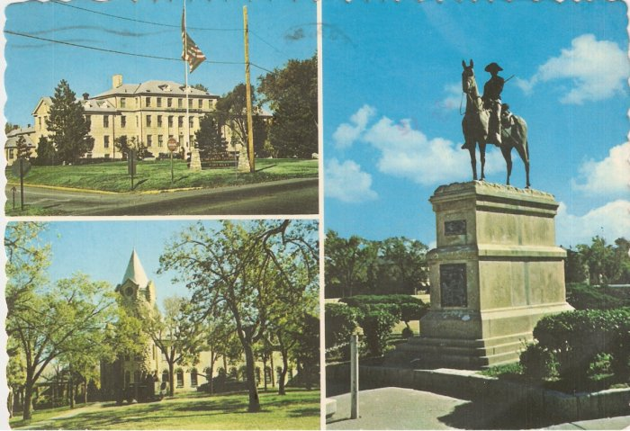 Fort Riley Kansas Santa Fe Trail vintage postcard