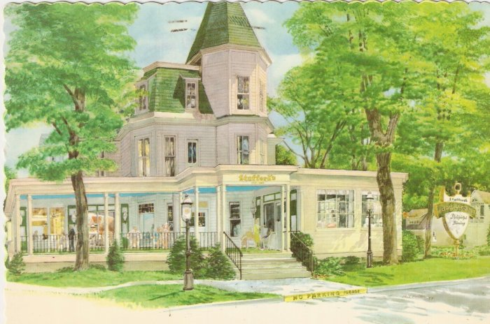 Stafford Bay View Inn Petoskey Michigan 1980 postcard