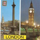 London Trafalgar Square Big Ben ST Paul Cathedral England postcard