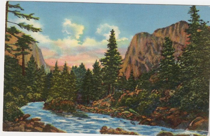 Mt Baldy Gallinas Canyon Near Las Vegas Nevada vintage postcard
