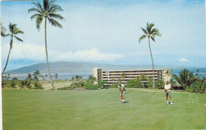 Kaanapali Beach Hotel Maui Hawaii golf postcard