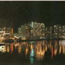 Skyline Night Harbor John Wagner Honolulu Hawaii postcard