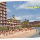 Reef Hotel Waikiki Hawaii Diamond Head vintage postcard