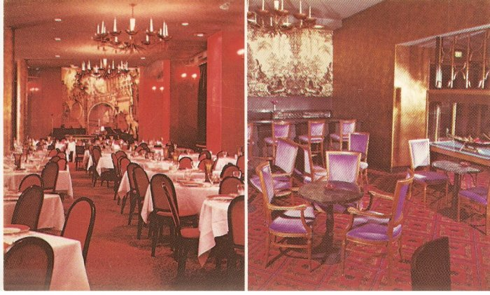 San Marco Room Gondola Brown Palace Hotel Denver Colorado color postcard
