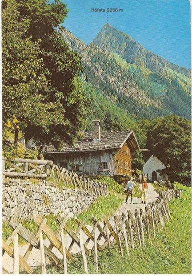 Oberstdorf Allgau Gerstruben Germany vintage postcard