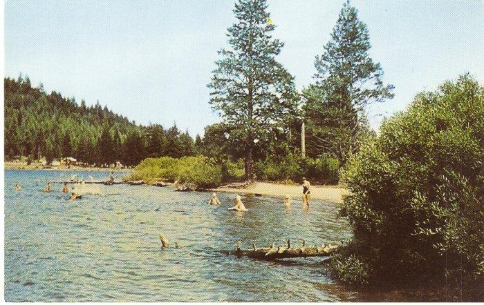 Donner Memorial State Park Truckee California vintage postcard