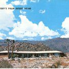 Bing Crosby Palm Desert Home California Silver Spur Ranch vintage postcard