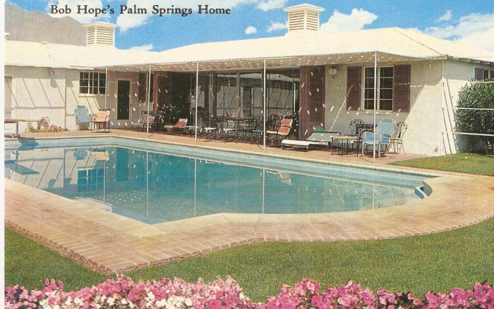 Bob Hope Palm Springs Home California vintage postcard