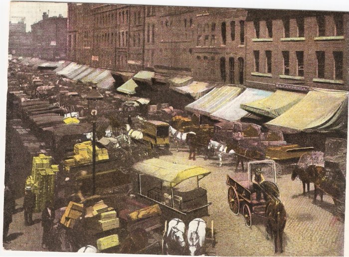 South Water Street Chicago Illinois 1911 vintage postcard