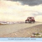 Summit Beartooth Hi-Way Montana vintage postcard