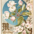 Christmas Card Flowers Tuck Sons Bells Ring Joy to Thee