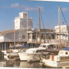 Grotto Restaurant Oakland California pier boats vintage postcard