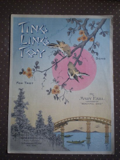 Ting Ling Toy Fox Trot Mary Earl Shapiro Bernstein 1919 sheet music