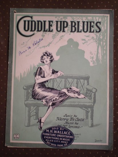 Cuddle Up Blues De Costa Jerome 1922 sheet music