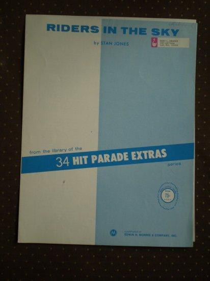 Riders in the Sky Stan Jones Cowboy Legend sheet music c1949