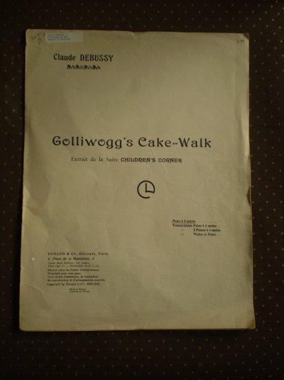 Claude Debussy Golliwog Cake Walk Durand 1908 sheet music
