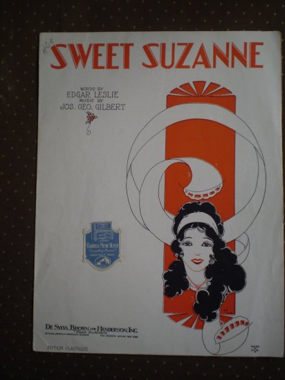 Sweet Suzanne Edgar Leslie Gilbert 1928 sheet music Edition Classique