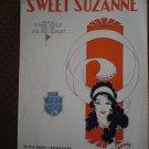 Sweet Suzanne Edgar Leslie Gilbert 1928 sheet music Edition Classique