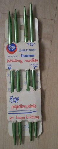 "Knitting Needles Boye Double Point 7"" 4/Pkg Size 8 Green Perfection Points"