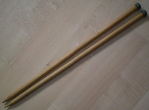 Knitting Needles Hero Standard Wood 14.5 inch Single Point