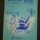 Sleigh Ride Sheet Music Mitchell Paris Leroy Anderson 1950