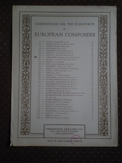 Karganoff Minuet Antique Op. 20 No. 5 Theodore Presser Sheet Music