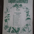 Clayton's Grand March  Chas. D Blake Op 100 1936 sheet music