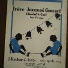 Frere Jacque's Concert Elizabeth Gest Piano 1944 sheet music
