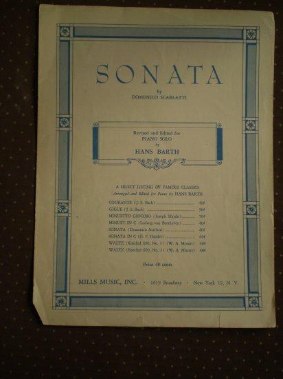 Sonata Domenico Scarlatti Hans Barth 1951 sheet music