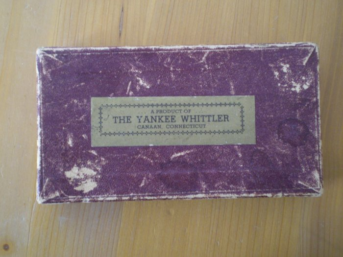 Wood Pegs In Box The Yankee Whittler Canaan CT Vintage