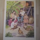 A Family Far Away Providence Lithograph 1956 Margaret Ayer print