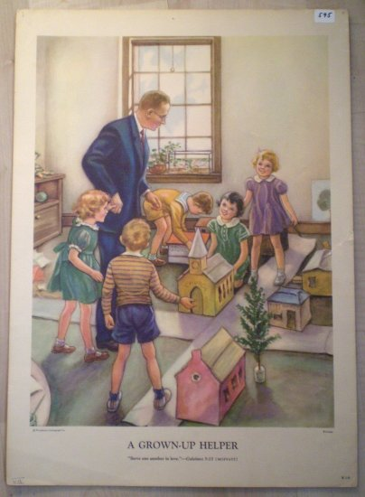 A Grown-Up Helper Providence Lithograph Vintage Wireman print