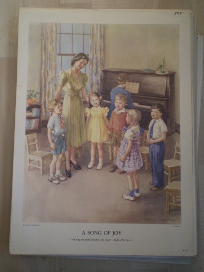 A Song of Joy Providence Lithograph Vintage Handsaker print