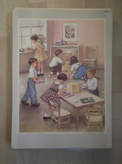 Everyone Has Something To Do Providence Lithograph 1963 Handsaker