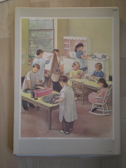 Friends At Work and Play Providence Lithograph 1962 Handsaker
