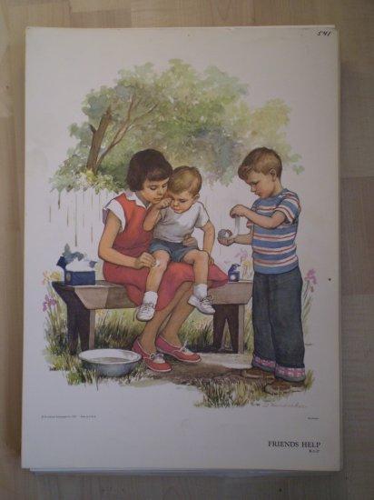 Friends Help Providence Lithograph 1957 Handsaker Print