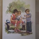 Friends Help Providence Lithograph 1957 Handsaker Print