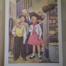 Grown-Up Helpers in Church Providence Lithograph 1957 Handsaker print