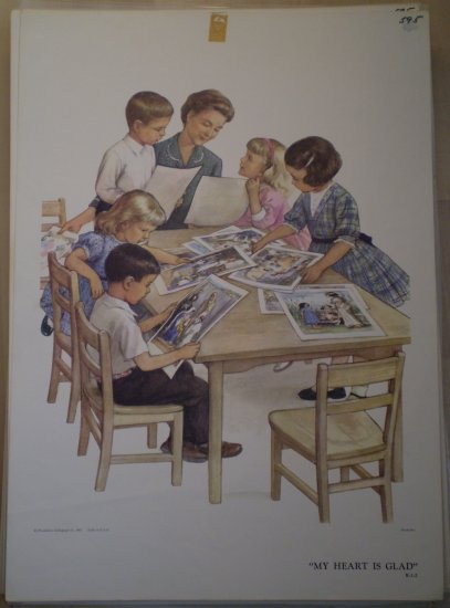 My Heart Is Glad Providence Lithograph 1961 Handsaker
