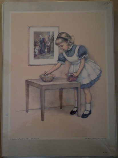 One Way of Thanking God Providence Lithograph 1962 Handsaker