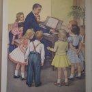 Singing Together Providence Lithograph Vintage Handsaker Print